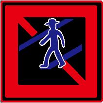 禁止行人穿越