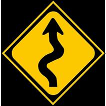 連續彎路先向右轉